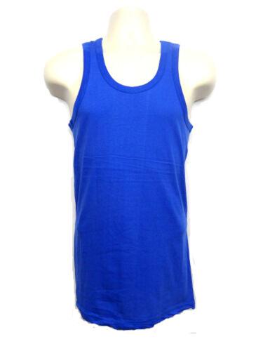 Mens 100/% Cotton Sleeveless Vest Gym Top Summer Training Running 9 Colours S-XXL