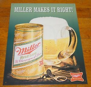 CLASSIC Miller High Life Advertising Brewery Beer Bar Pub Tavern Sign Decor NEW