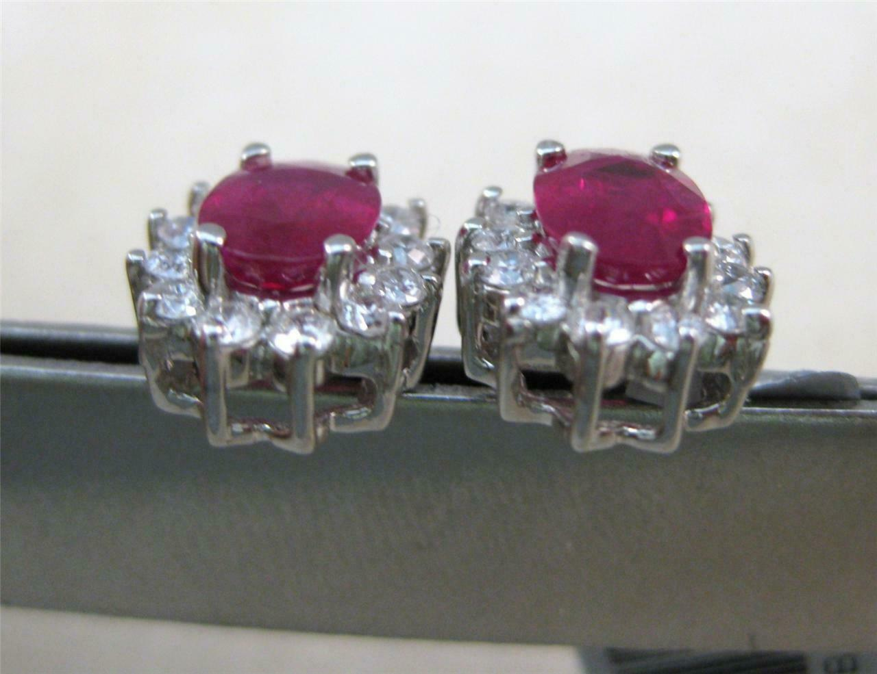 ESTATE 2.48CTW DIAMOND RUBY 14K WHITE GOLD DIANA … - image 10
