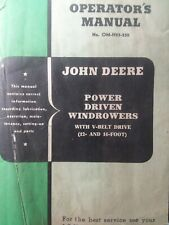 John Deere Power Driven Windrower 12 16 Implement Farm Ag Owner Amp Parts Manual