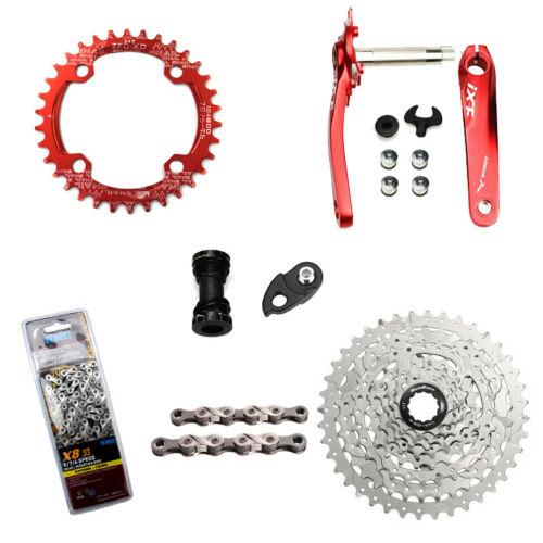 X8 Chain Sunrace 8speed CSM680 MTB bike Groupset 32//34//36//38//40//42T bike Kit