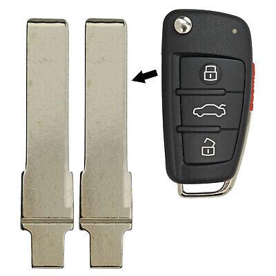 2 Brand New Uncut Blade Blank Flip Key Keyless Entry Remote For Audi Volkswagen