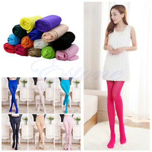 49046c79e4b New Hot Sexy Women s Opaque Footed Tights Slim Elastic Pantyhose ...