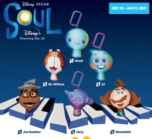 2020 McDONALD'S Disney Pixar SOUL Plush HAPPY MEAL TOYS Choose Toy or Set