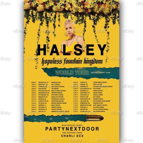 Halsey Hopeless Fountain Kingdom World Tour Custom Silk Poster Art Wall Decor