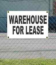 2x3 WAREHOUSE FOR LEASE Black & White Banner Sign NEW Discount Size Price
