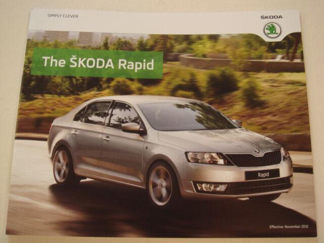 Skoda . Rapid . The Skoda Rapid . November 2012 Sales Brochure