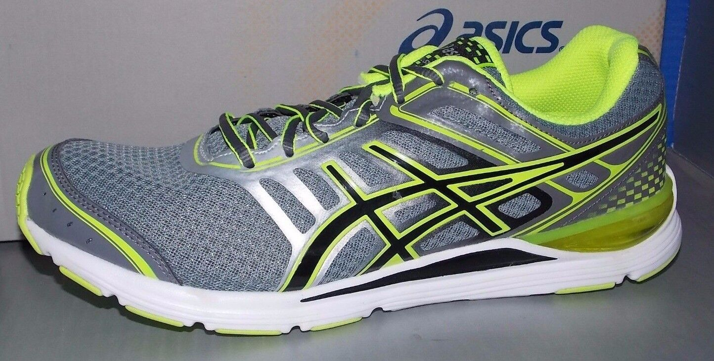 MENS ASICS GEL - STORM in Coloreeei CHARCOAL    nero   FLASH YELL Dimensione 10  Garanzia del prezzo al 100%