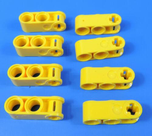 LEGO® technic Nr 4175441 1x3 gelbe Pin//Kreuz Lochstangen Liftarm 8 Stück