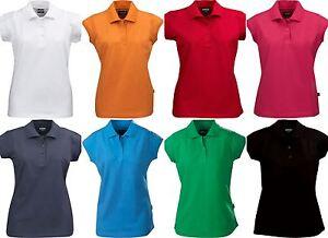 T Manica Lycra Cotone Americana Elasticizzata Shirt Polo Corta Donna N0vnwm8