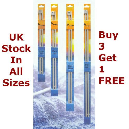 Pony Knobbed Knitting Needles Single Point Pins Length 30cm 35cm  Width 2mm-10mm