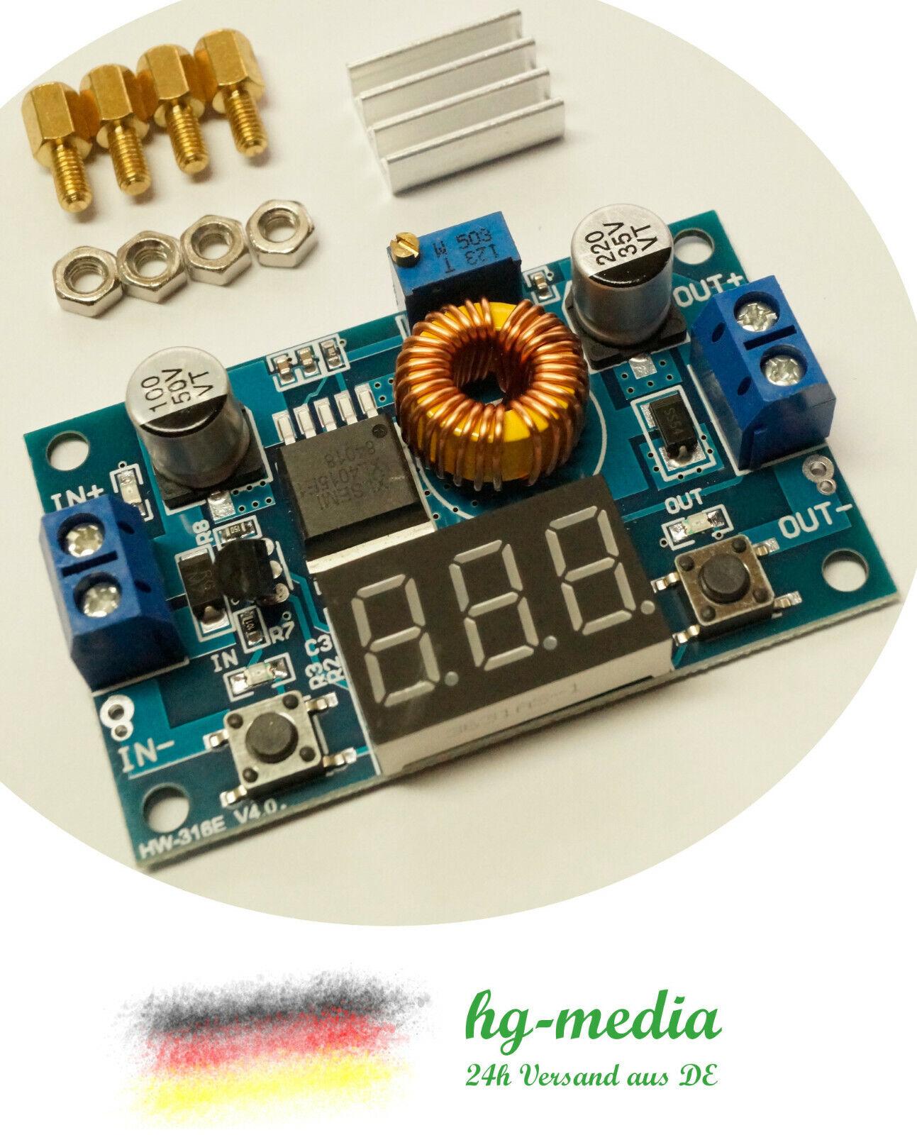 5A XL4015 Spannungsregler LED Voltmeter Step down 1,2-36V Arduino UBEC SBEC BEC