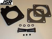 86-93 Mustang Gt Lx 5.0 Egr Throttle Body Spacer Nitrous Plate Kit 1/2 70 Black