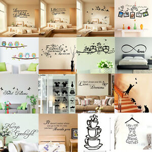 Vinyl-Art-Home-Room-DIY-Decor-Quote-Wall-Decal-Stickers-Bedroom-Removable-Mural