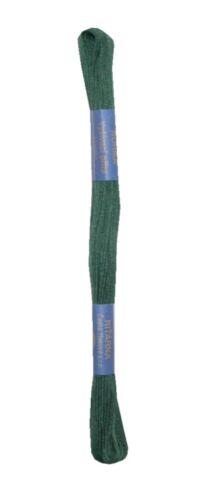 6882 Stickgarn Stickfaden Knüpfgarn Norma 100/% Baumwolle 15 m dunkelgrün