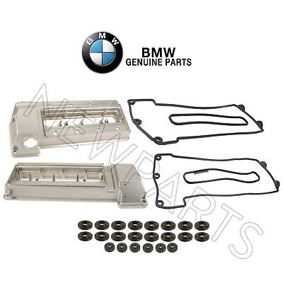 For BMW E38 Pair Set of Left+Right Valve Cover Gasket Sets Cyl.1-4 /& 5-8 Genuine
