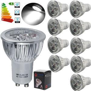 10x-Bright-GU10-6W-LED-Spotlight-Cool-White-Light-Bulb-Spot-Bulbs-Downlight-Lamp