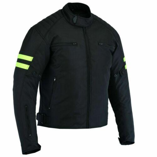 Motorradjacke Herren Textil mit Protektoren Motorradjacke Schwarz-Grün-Sommer