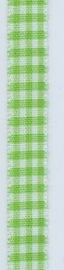 Bazzill Basics Green Gingham Ribbon