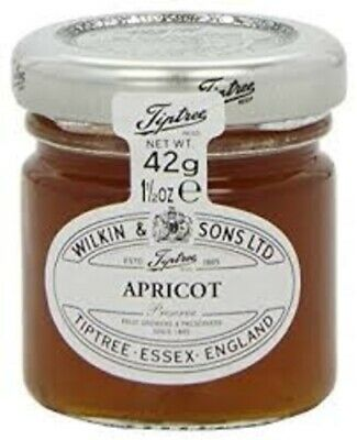 6-X-MINI-APRICOT-JAMS-BY-WILKIN-amp-SONS-IMPORTED-FROM-UK-FREE-POST
