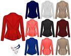 Womens Ladies Crop Frill Shift Slim Fit Fitted Peplum Blazer Jacket Coat UK 8-16