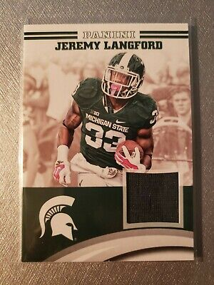 Jeremy Langford Jersey JL-MSU 2016 Panini Michigan State Spartans Collegiate   eBay