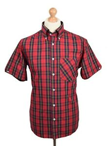 REAL HOXTON RED WHITE /& BLACK CHECK SHIRT MOD CLOTHING SKA SKINHEAD REGGAE