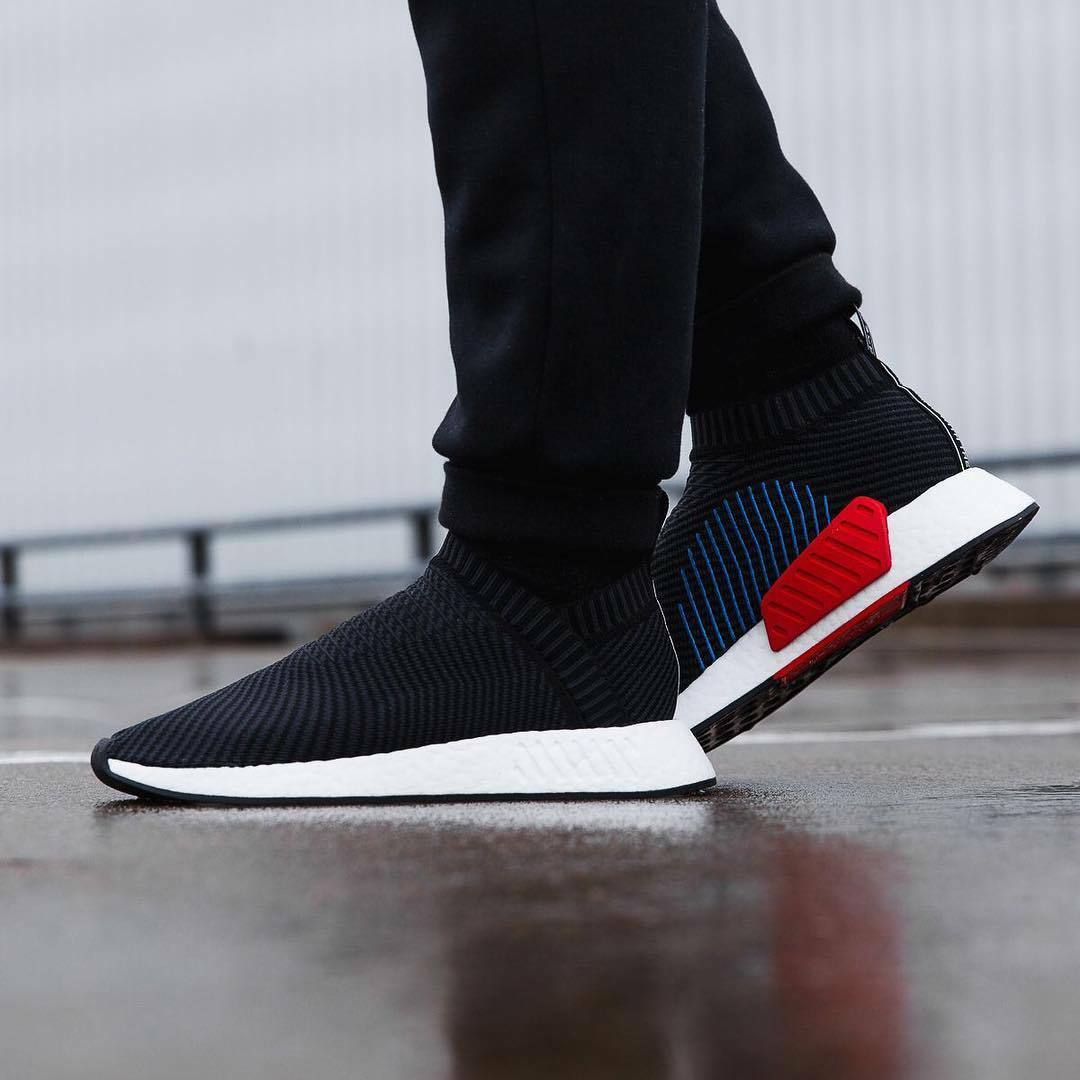 Adidas NMD CS2 PK size 13. Black Red Blue White. CQ2372. primeknit ultra boost