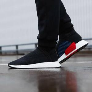 19485986f Adidas NMD CS2 PK size 13. Black Red Blue White. CQ2372. primeknit ...