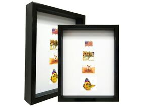 "Black 2-3//16/"" Shadow Box Picture Frame Polystyrene WholesaleArtsFrames-com Sale"