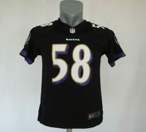Details about Baltimore Ravens Jersey #58 Dumervil Nike Black Shirt Size Child Boys M NFL