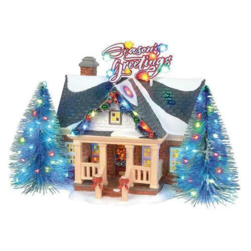 Dept 56 Snow Village New 2019 Christmas Lane BRITE LITES HOLIDAY HOUSE 6003131