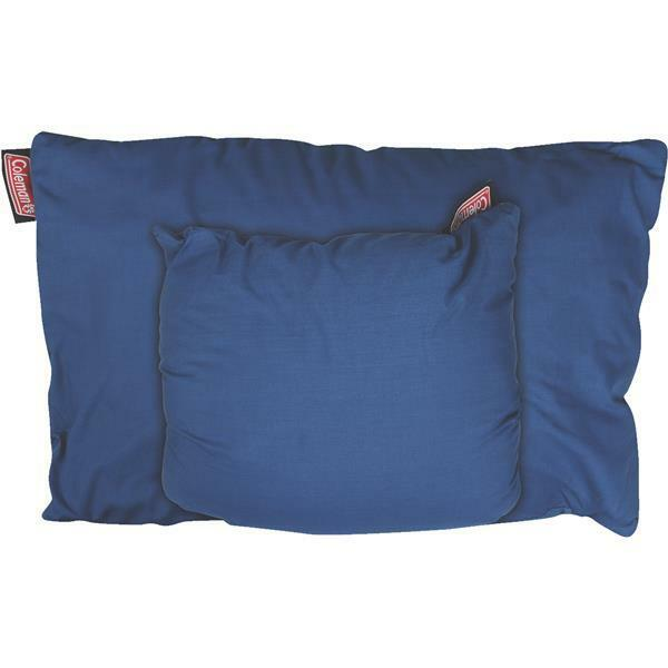 6 Pk Coleman 22  L x 18  W bluee 8 oz Fold-N-Go Camping Travel Pillow 2000019656