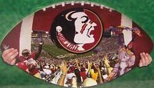 Jigsaw puzzle NCAA Florida State Seminoles in shape of a football 550 piece NIB