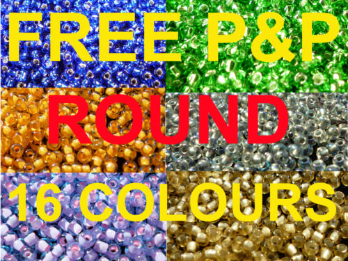10G SIZE 11//o GLASS TOHO SEED BEADS ROUND LOTS COLOURS /</<UK STOCK/>/> SILVER LINED
