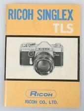RICOH SINGLEX TLS INSTURCTION MANUAL