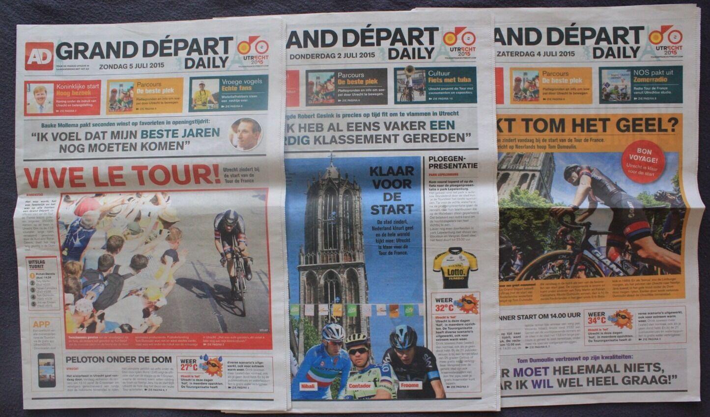 Cyclisme 3 De Journaux Utrecht Tour De 3 France 2015 87131b