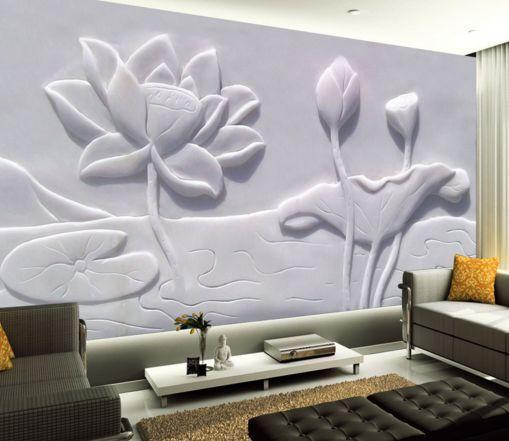 3D whiteer Lotus 67000 Fototapeten Wandbild Fototapete BildTapete FamilieDE
