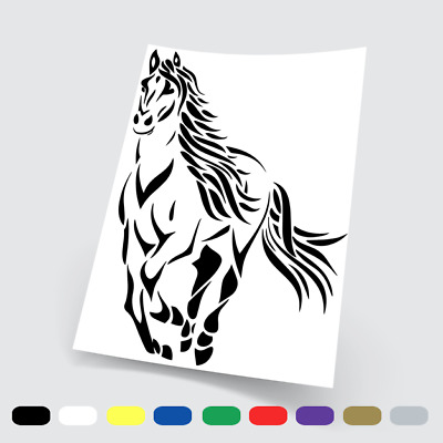 Adesivi Murali Adesivo in vinile horse cavallo Wall Stickers da parete auto pc 2