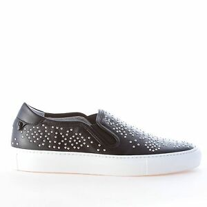 Femme Silver Women Black Slip On Street Leather Chaussures Givenchy pGSqUzVM