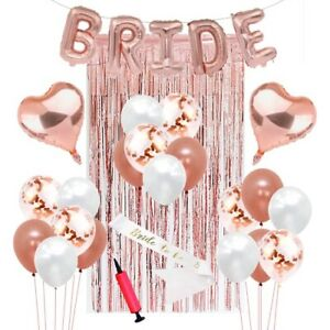 ROSE GOLD Bachelorette Party Decorations Kit Bridal Shower Favor Supplies Gift H