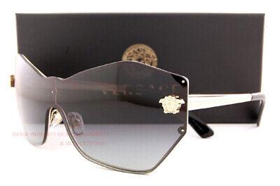 Brandneu Versace Sonnenbrille Ve 2182 1252/8g Gold / Graue Gradient Für Damen