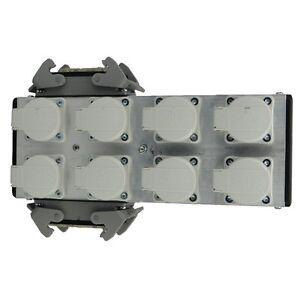 MPL-ulpb82h-ALUMINIO-POWERBOX-8-con-2x-16pol-HARTING-auf-8-CONECTORES-SCHUKO