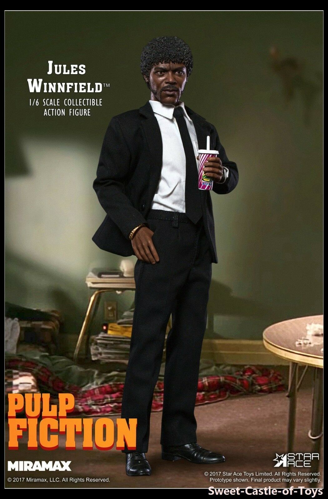 1/6 Star Ace Toys Pulp Fiction Jules Winnfield Collectible Figure SA0044