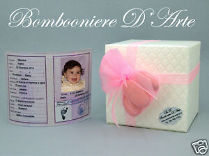 Bomboniere Di Carta Battesimo : Bomboniera battesimo bimba carta d identita curva personalizzata