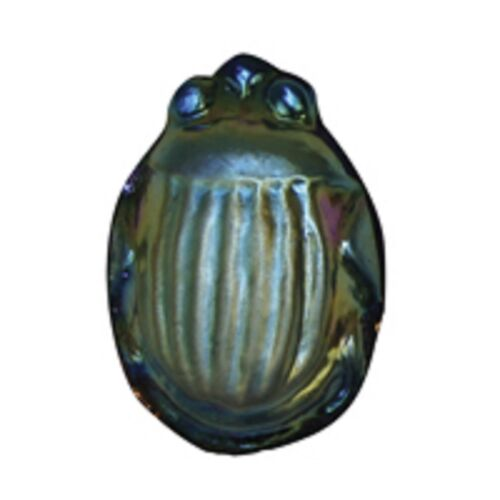 Stained Glass Jewels Scarab Large Blue Aurene