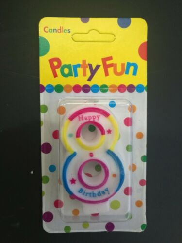 """Free Gift 2.7/"""" Brithday Party Candle Number 0-9 Cake Topper Decoration 7cm"""