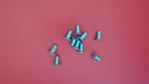 10X Schlitzschrauben M5x10 Senkkopfschraube DIN 963 Stahl 5mm  M5 x 10