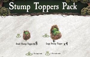 Dwarven-Forge-Caverns-Deep-Dreadhollow-Forest-Stump-Toppers-Pack-D-amp-D-Tiles-NEW