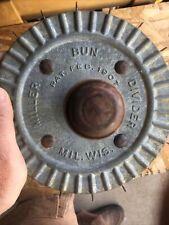 Vintage Miller Bun Divider Roller Bakers Adjustable Dough Cutter Blades Rusty